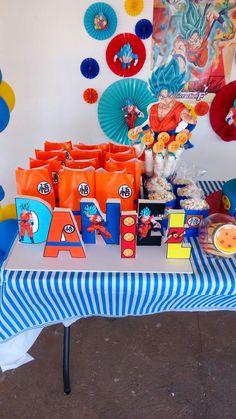 Goku ideas fiesta Goku Birthday, Naruto Birthday, Dragon Birthday Parties, Dragon Party, 1 Year Birthday Party Ideas, Kids Birthday Themes, Birthday Celebration, Cheap Party Decorations, First Birthdays