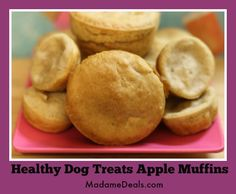Healthy Dog Treats Apple Muffins http://madamedeals.com/healthy-dog-treats-apple-muffins/ #inspireothers #dogfood