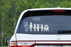 Star Wars Family. Finally a family car decal I actually like.