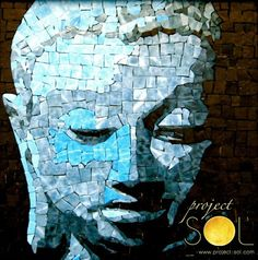 www.project-sol.com Mosaic Portrait, Caribbean Art, Face And Body, Mosaics, Stained Glass, Tattoo Designs, Art Tattoos, Zen, Projects