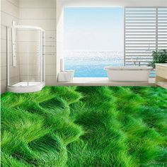 28.50$  Watch here - http://alilmj.shopchina.info/1/go.php?t=32813444184 - beibehang 3D creative high - definition grass grass paste custom large - scale murals pvc wear - resistant plastic film  #aliexpresschina