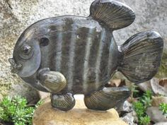 Blue+Gill/Sun+Fish+OOAK+Rock+Sculpture+by+CCRockCreations+on+Etsy
