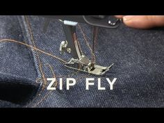 Tutorial - How to Sew a Fly Front Zipper - YouTube