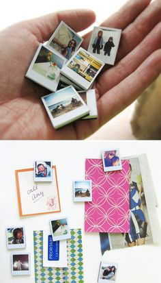 DIY tiny polaroid magnets...need to make some of these