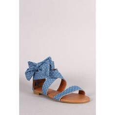 Bamboo Strappy Bow Sandal ($28) ❤ liked on Polyvore featuring shoes, sandals, stretch sandals, elastic sandals, flat sandals, bow sandals and bamboo shoes