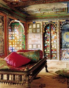 love the tile work colors and archways good for any room really beautiful interiors photographed by tobias harvey - Moroccan Bedroom Decorating Ideas