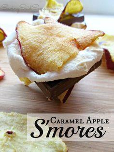SavingSaidSimply.com - Caramel Apple Smores Recipe #smores #fall