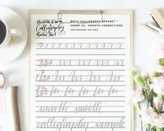 learn Calligraphy kit how to calligraphy instruction book calligraphy pen no fuss calligraphy set Calligraphy Kit, Calligraphy Practice, Beautiful Calligraphy, Minnie Mouse Cake Topper, Page Three, Wire Binding, Bound Book, Brush Pen, Signature Style