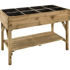 The Jardipolys Gariguette Raised Vegetable Bed is a gorgeous planting table in a natural finish which is identical to the Jardipolys Pimprenelle. Raised Garden Beds, Raised Beds, Raised Planter Boxes, Vegetable Bed, Plant Table, Garden Boxes, Garden Planters, Growing Herbs, Diy Wood Projects