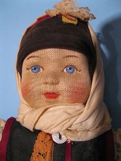 10-RARE-NM-1930-40s-Russia-Russian-Girl-Soviet-Union-Stockinette-All-Cloth-USSR. $199.  This doll is in amazingly good shape for being about 75 years old.  She is quite rare because she is in very near mint condition. She is priced higher than others from this series of nine dolls because it is so rare to find this one at all, and especially to find her in amazing condition.  She would likely be of interest only to serious collectors.  Description, etc.:   In the late 1920s and early 1930s a…