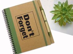 Personalized Journal Don't Forget Notebook by LooveMyArt on Etsy