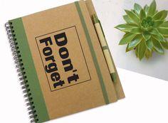 Personalized Journal Don't Forget Notebook von LooveMyArt auf Etsy