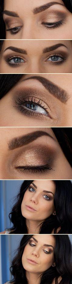 Linda Hallberg || MUS eye primer tinted | eleven hearth VS pastels eye shadow palette | MAC reflects glitter bronze | max factor clump defy mascara | MUS blush must have
