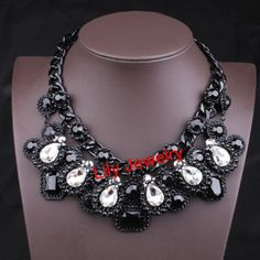 Luxury Crystal Statement Necklace Jewelry by Attractivenecklace, $16.80