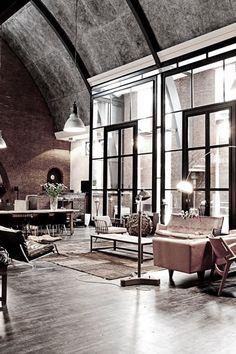 Living in a loft apartment  #loft #decor http://www.pinterest.com/search/pins/?q=living%20in%20a%20loft