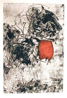 Sunflower 1. Etching by Joan Mitchell.
