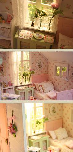 Nerea Pozo Art: ♥ Custom Handmade Diorama PASTEL COTTAGE ♥
