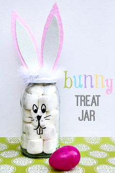 DIY Bunny Treat Jar for Spring or Easter