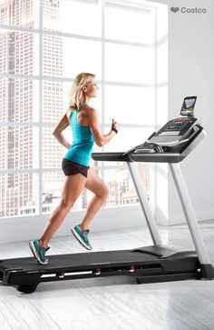 The ProForm Premier 1300 Treadmill features a 10 inch full-color touchscreen, CoolAire™ Workout Fan, and 34 built-in workout apps.