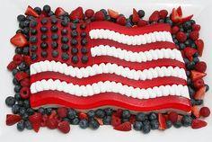 Beautiful Flag Jello Dessert
