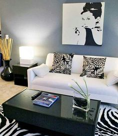 Trendy, comfortable, yet simple living room