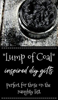 "Looking for a great ""lump of coal"" gift idea for someone on your gift list? Check out these great all natural diy gift ideas that make use of activated charcoal for a fun coal inspired gift! #lumpofcoal #holidaygifts #giftideas #activatedcharcoal #diy #diygifts #natural Wellness Tips, Health And Wellness, Women's Health, Holistic Wellness, Herbal Remedies, Natural Remedies, Natural Skin Care, Natural Health, Natural Beauty Recipes"
