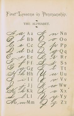 1895 School Primer Penmanship Page with cursive alphabet Alphabet Cursif, Tattoo Alphabet, Alphabet School, Sign Language Alphabet, Spanish Alphabet, Preschool Alphabet, Alphabet Crafts, Calligraphy Letters, Learn Calligraphy