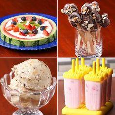 Les 4 idées sont bien... même si je connaissais le principe pour les glaces, ces variantes sont top !