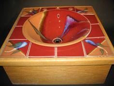 Alan Higinbotham-custom ceramic sink with matching counter tiles