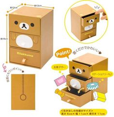 Rilakkuma Desk Chest $16.95 http://thingsfromjapan.net/rilakkuma-desk-chest/ #rilakkuma stuff #san x products #kawaii Japanese stuff