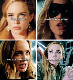 "Sara Lance: It's sad when you hurt so often you can finally say, ""I'm used to it."" #arrow #lot"