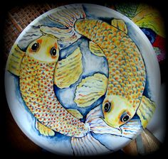Hand Painted Ceramic Platter by BajaGypsy on Etsy