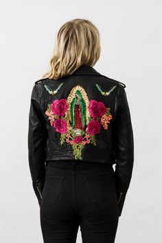 Denim and Bone 'Mother Mary' sequin leather jacket
