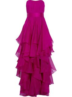 Long, purple/pink dress<--Is it just me or does anyone else think this is Hermione's dress from the Yule Ball?