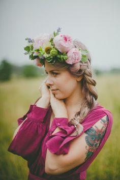 peony flower crown by OHD - picture by Ashley Elizabeth Photography
