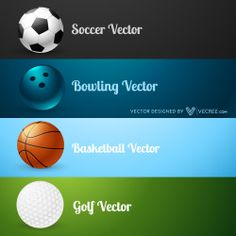 Set Of Sports Elements Free Vector