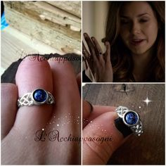 The Vampire Diaries Elena Gilbert Inspired New Daylight Ring, 925 Sterling Silver and Real Lapis Lazuli Vampire Diaries Outfits, The Vampire Diaries, Vampire Diaries Jewelry, Vampire Diaries Costume, Elena Gilbert, Candice Accola, Leaf Engagement Ring, Engagement Ring Settings, Damon Salvatore