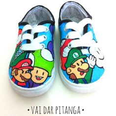 Hand painted, custom and exlusive. Made to order. If you want a pair of customized sneakers, here's how to: Choose a theme/design and email me at vaidarpitanga@gmail.com #vaidarpitanga #pitanga #customsneakers #customshoes #customkicks #shoes #sneakers #kicks #handpainted #handmade #posca #uniposca #diy #supermario