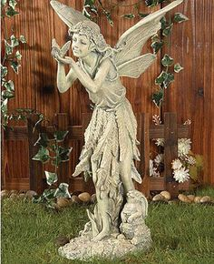 Our Fairy Garden Statues Include Delightful Choices In Fairy Statues  Including This Beautiful Fairy Garden Statue