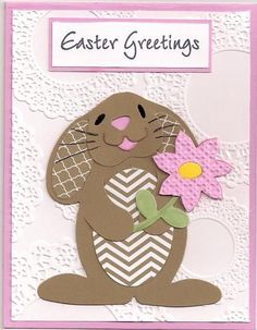 Easter postcard.  (Pin#1: Easter: Bunnies.  Pin+: Punch Art: Animals...).