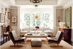 window area carved out ~ for sofa or cabinets  Inspiration Gallery | Windsor Smith Room In A Box
