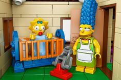 Official 'The Simpsons' LEGO Set so cute! baby Maggie & Marge
