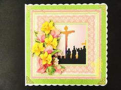 EASTER CROSS DAFFODILS Mini Kit Decoupage on Craftsuprint designed by Janet Briggs - made by Valerie Spowart