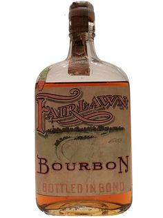 Fairlawn distilled 1916   This Illinois bourbon comes from the Corning Distilling Co, which onwed multiple Pre-Prohibition distileries. The bottling date on the tax stamp was too damaged to clearly read, our best guess is 1929.Medicinal Whiskey from Prohibition | LA Whiskey Society
