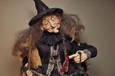 Handmade Witch & Pumpkin Head Guys By Kim Sweet~Kim's Klaus
