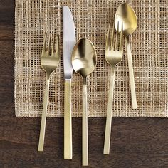 Gold Flatware 5 pc. set from West Elm