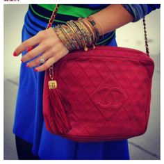 Love the RED vintage Chanel!!!