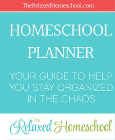 FREE homeschool planner! Great way to keep your homeschool organized and on track! http://therelaxedhomeschool.com/