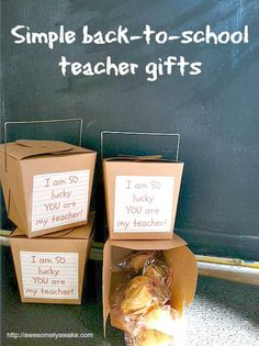 It's the thought that counts with this fun and simple teacher gift of fortune cookies and a sweet message.