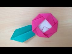 折り紙 花 椿と葉 折り方 Origami Camellia flowers and leaves - YouTube